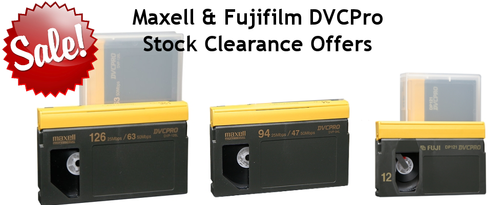 Fujifilm Maxell DVCPro Tapes Clearance